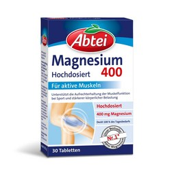 Abtei Magnesium 400 mg Tabletten Packung – 30 Tabletten
