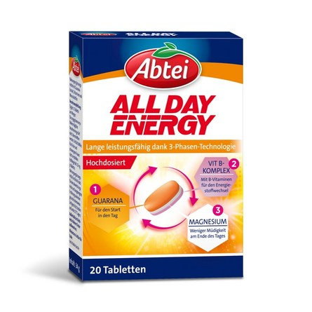 Abtei All Day Energy Tabletten Packung
